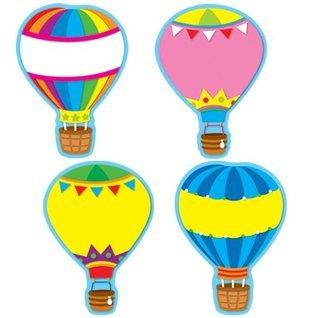 Carson Dellosa Hot Air Balloons Cut-Outs (120077)  by  Carson-Dellosa Publishing