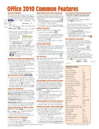 Office 2010 Common Features Quick Reference Guide  by  Beezix, Inc.