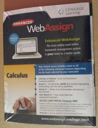 CALCULUS-ENHANCED WEBASSIGN AC Cengage Learning