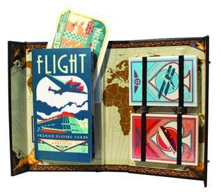 The Flight Deck Logbook: Vintage Aviation Playing Card Set Paul Roman Martinez