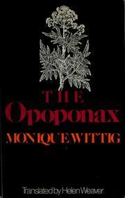The Opoponax Monique Wittig