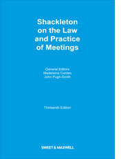Shackleton on the Law and Practice of Meetings Frank Shackleton
