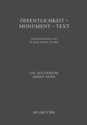 Offentlichkeit - Monument - Text: XIV Congressus Internationalis Epigraphiae Graecae Et Latinae Peter Funke