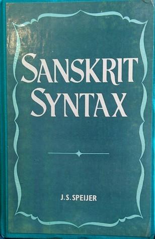 Sanskrit Syntax Jacob Samuel Speijer