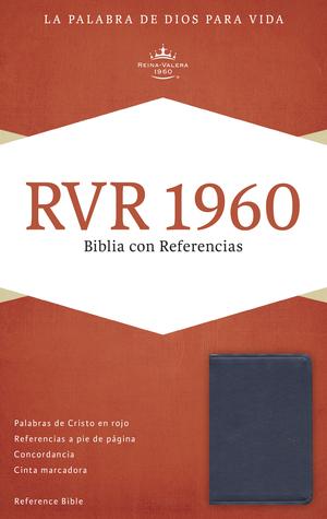 RVR 1960 Biblia con Referencias, azul zafiro, imitación piel B&H Espanol Editorial Staff