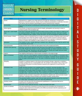 Nursing Terminology Speedy Study Guides  by  Speedy Publishing