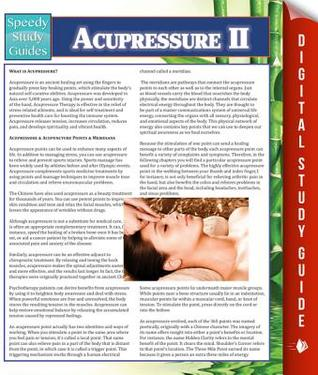Acupressure II  by  Speedy Publishing