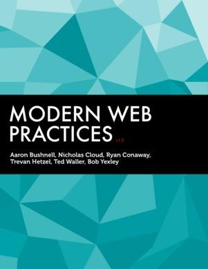 Modern Web Practices  by  Nicholas Cloud