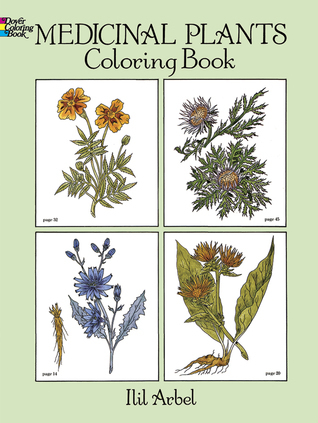 Medicinal Plants Coloring Book Ilil Arbel