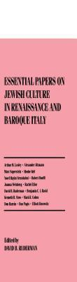 Essential Paper on Jewish Culture in Renaissance and Baroque Italy  by  Kaja Silverman