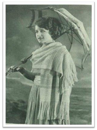 #1567 ICELAND SCARF VINTAGE CROCHET PATTERN Princess of Patterns
