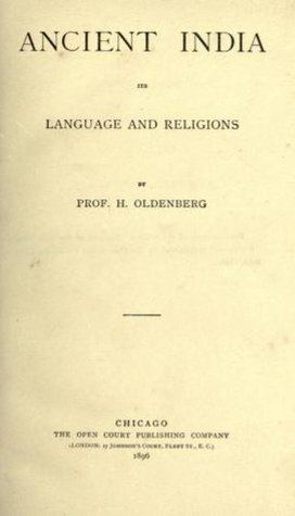 Ancient India, Its Language And Religions Prof. H. Oldenberg