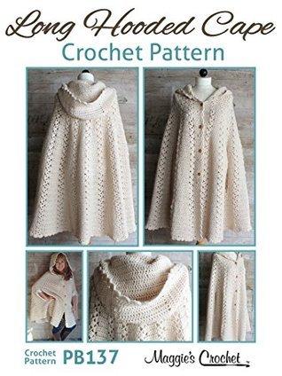 Crochet Pattern Long Hooded Cape PB137  by  Maggie Weldon