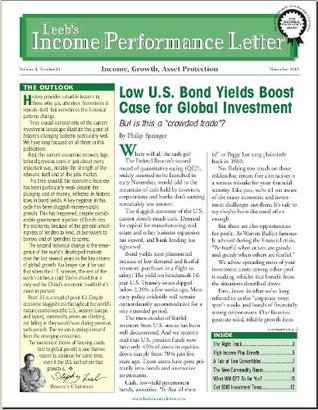 Leebs Income Performance Letter  by  Philip Springer