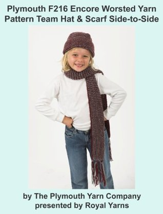 Plymouth F216 Encore Worsted Yarn Pattern Toddler Hat & Scarf  by  Royal Yarns