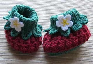 Knitting and Crochet Pattern Sweet Berry Booties for Baby 3-6, 6-12 Months  by  Yelena Chen