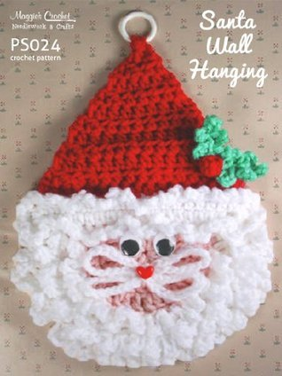 Crochet Pattern Small and Large Santa Wallhangings PS024-R  by  Maggie Weldon