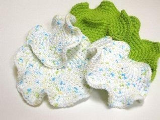 Round Ruffled Scrubbies Crochet Pattern in 3 Sizes  by  Timary Peterson