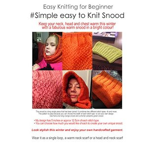 Simple Easy Snood Knitting Pattern (easy for beginners): Keep warm and stylish this winter  by  P Sutton