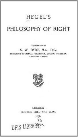 Philosophy of Right 1896 Original-Scan Georg Wilhelm Friedrich Hegel