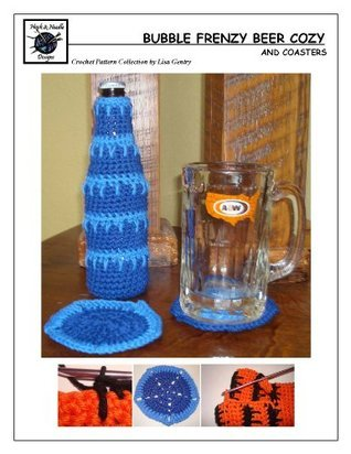 Bubble Frenzy Beer Cozy - Crochet Pattern #135 for Beer Bottle Cover and matching Coaster Lisa Gentry