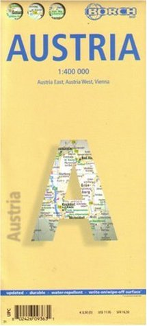 Laminated Austria Map  by  Borch by Borch