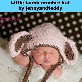 Little Lamb crochet hat pattern jennyandteddy