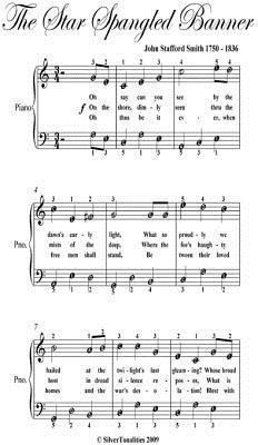 Star Spangled Banner Easy Piano Sheet Music John Stafford Smith