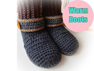 Bed of Roses Crochet Boots Pattern NSF  by  Wonderful Hands