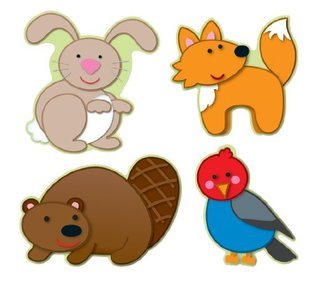 Carson Dellosa Woodland Animals Cut-Outs (120108)  by  Carson-Dellosa Publishing
