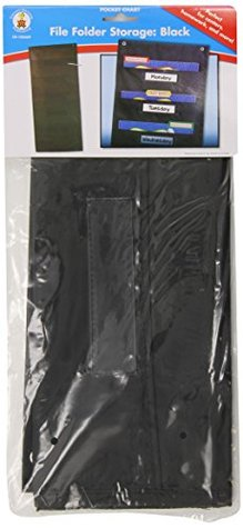File Folder Storage: Black Pocket Chart Carson-Dellosa Publishing