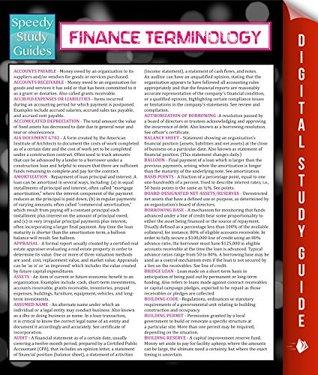 Finance Terminology Speedy Publishing