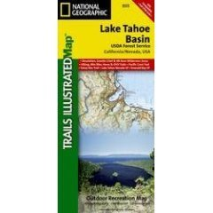 Lake Tahoe Basin  by  National Geographic Maps