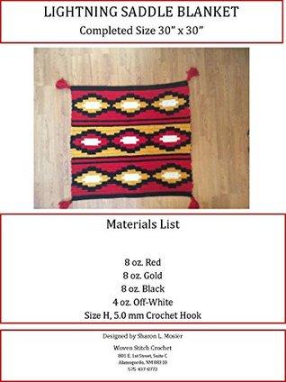 Lightning Saddle Blanket PDF Crochet Pattern Sharon Mosier