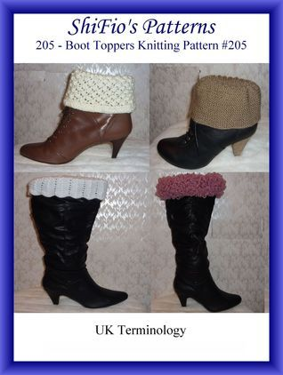 205- Boot Toppers Crochet Patterns #205  by  ShiFios Patterns