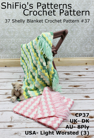 37 Shelly Blanket Crochet Pattern #37 ShiFios Patterns