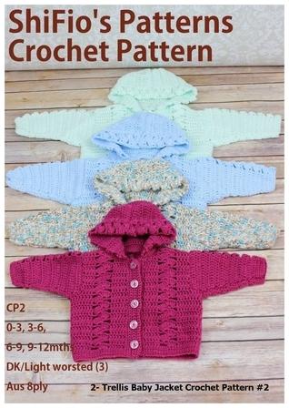 2- Trellis Baby Jacket Crochet Patterns #2 ShiFios Patterns