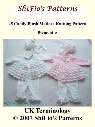 45 Candy Blush Matinee Jacket Knitting Pattern #45 ShiFios Patterns