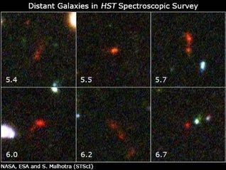 Hubble Takes Faintest Spectroscopic Survey of Distant Galaxies  by  J.D. P