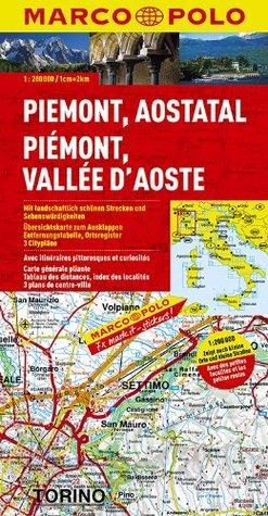 Piedmont, Aosta Valley Marco Polo Map: 1:200K (Italy) Marco Polo