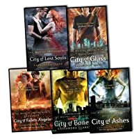 Cassandra Clare Mortal Instruments 5 Books Collection Pack Set RRP: £42.95 (City of Bones Book 1, City of Ashes Book 2, City of Glass Book 3, City of Fallen Angels Book 4, City of Lost Souls Book 5)