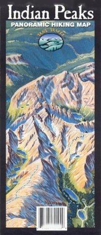 Indian Peaks Panoramic Hiking Map Trail Tracks®
