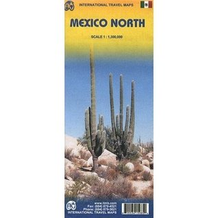 Mexico North 1:1,300,000 Regional Travel Map  by  ITM Canada