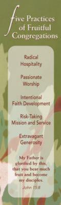 Five Practices of Fruitful Congregations Bookmark (Pkg of 25)  by  Robert Schnase
