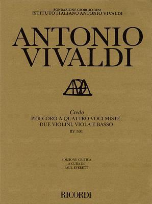 Credo Rv591: Critical Edition Score  by  Antonio Vivaldi