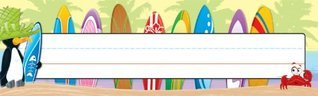 Carson Dellosa Surfing Nameplates (122024)  by  Carson-Dellosa Publishing