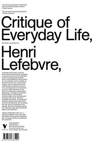 The Critique of Everyday Life: The One-Volume Edition  by  Henri Lefebvre