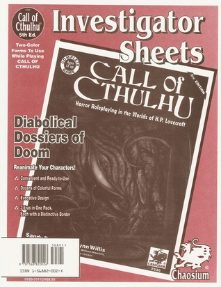 Investigator Sheets  by  Chaosium