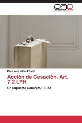 Accion de Cesacion. Art. 7.2 Lph  by  Valero I Vicent Maria Jose