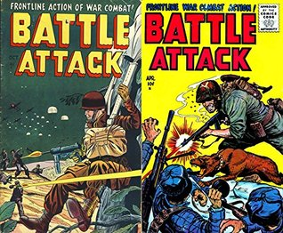 Battle Attack. Issues 1 and 4. Frontline action of War Combat. Golden Age Digital Comics Military and War. Golden Age Military and War Comics